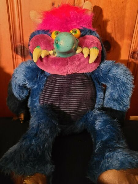 Vintage 1986 My Pet Monster Large 24quot; Toy No Cuffs AmToy 80s Stuffed Animal $280.00