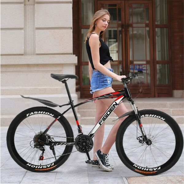 26quot; Mountain Bike Shimano 21 Speed Full Suspension Bicycles Mens Bikes MTB NEW ❥ $225.50