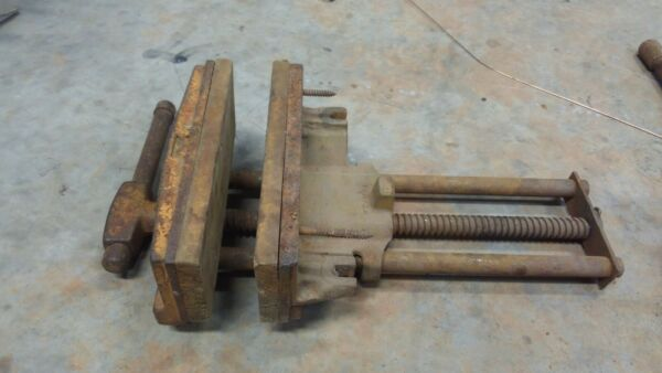 Columbian Wood Bench Vise 10quot; Quick Release Woodworking Big Dog Made in USA Vice $143.00