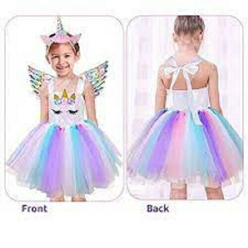 Beeager Halloween Unicorn Costumes for Girls with Headband and Wings 6T $18.00