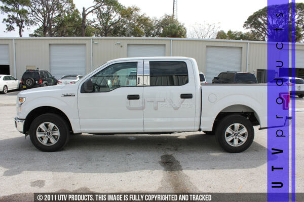 GTG 2015 2020 Ford F150 Crew With Keyless 4PC Chrome Stainless Steel Pillars $121.00