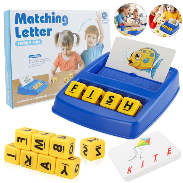 Matching Letter Game Learning Educational Toys Kids 3 8 Year Old Spelling Games