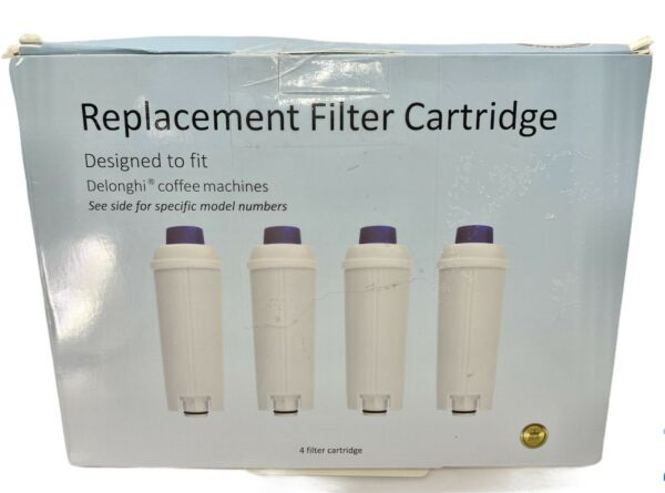 Replacement Cartridge Water Filter Delonghi Coffee Machines DLS C002 Lot of 3