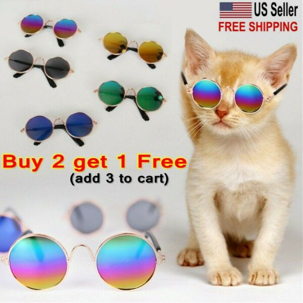 USA Dogs Cats Pets Glasses Small Dog Eye Wear Puppy Photos Props Sunglasses $7.14