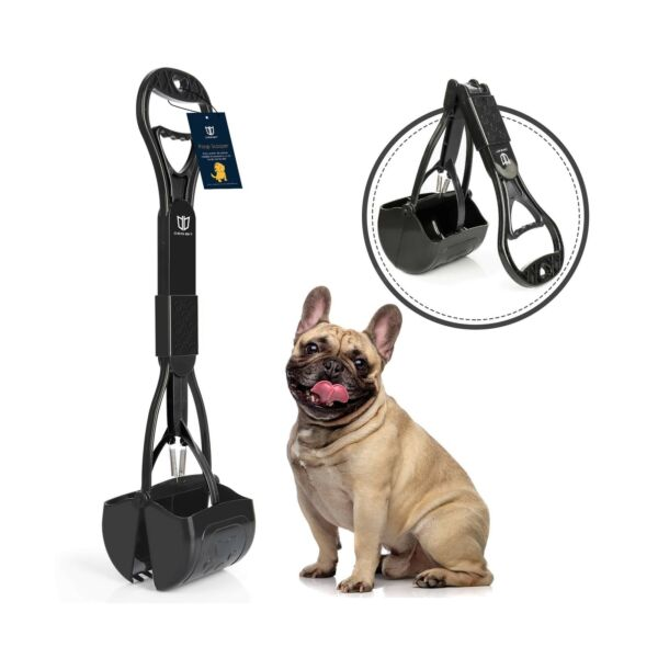 Dog Pooper Scooper for Large and Small Dogs Long Handle Portable Pet Pooper Scoo $11.81