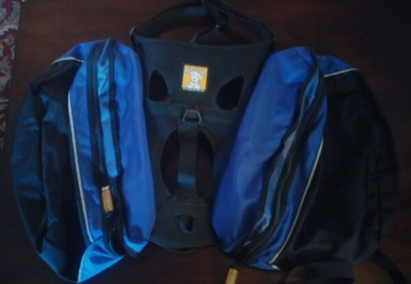 RUFFWEAR Approach pack II Blue Light Loop Outdoor Dog Hiking Saddle Pack Large $49.95