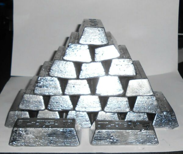 15 16lbs LEAD INGOTS $2.00 PER LB MELTED FROM BOAT KEELS amp; PIPE LEAD