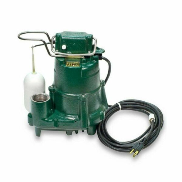 Zoeller M53 Sump Pump 1 3 HP Cast Iron Submersible 110V Vertical Float Switch $183.95