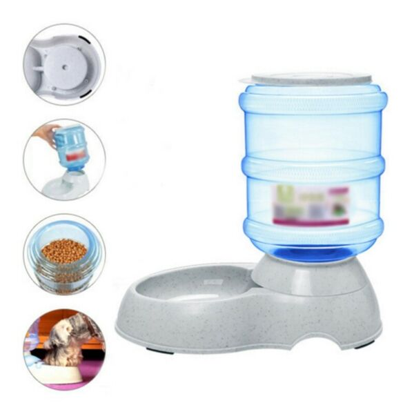 Pet Automatic Drinking Water Feeder Large Capacity Feeding for Dog Dispender Kit $15.19