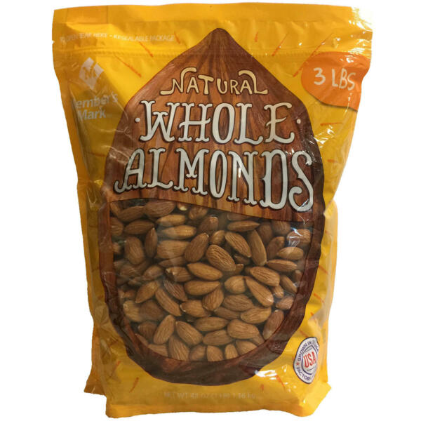 Member#x27;s Mark Natural Whole Almonds 3 lbs.