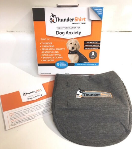 NEW Thundershirt Dog Dogs Size S Small 15 25lbs Solid Gray Best Anxiety Solution $20.98