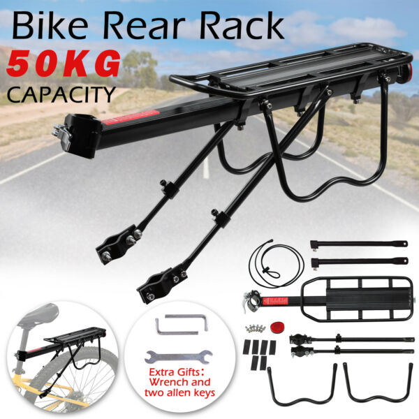 Mountain Bike Rear Rack Carrier Bicycle Seat Post Pannier Luggage Cargo Holder $20.99
