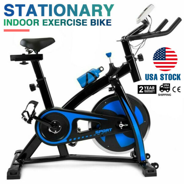 Exercise Bike Indoor Cycling Bicycle Stationary w LCD Display Home Cardio Gym $139.99