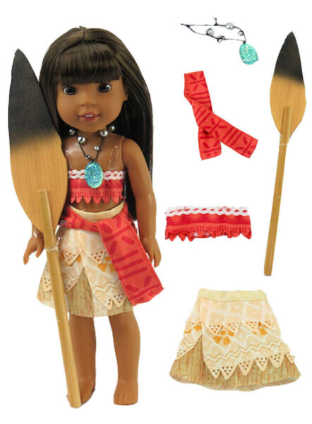 Moana Costume Halloween For 14.5quot; WELLIE WISHERS Doll Clothes $12.98