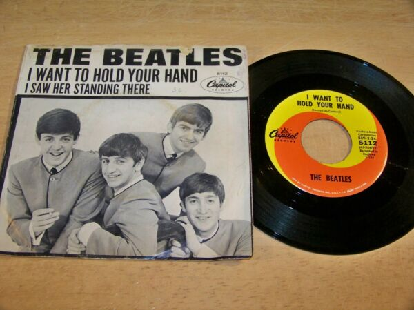 The Beatles 45 I Want to Hold Your Hand Capitol 5112 w PS