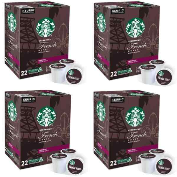 Starbucks French Dark Roast Coffee K Cup Pods 88 Count EXP:12 2021 NEW..