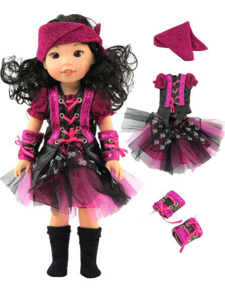 Pirate Costume Halloween For 14.5quot; WELLIE WISHERS Doll Clothes $12.98