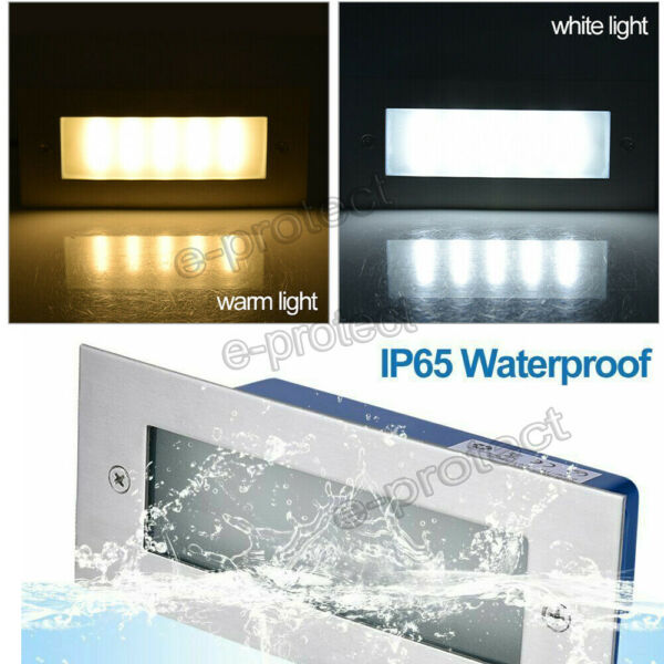 LED Stair Step Well Light Outdoor In Ground Garden Waterproof Pathway Wall Lamp $19.34