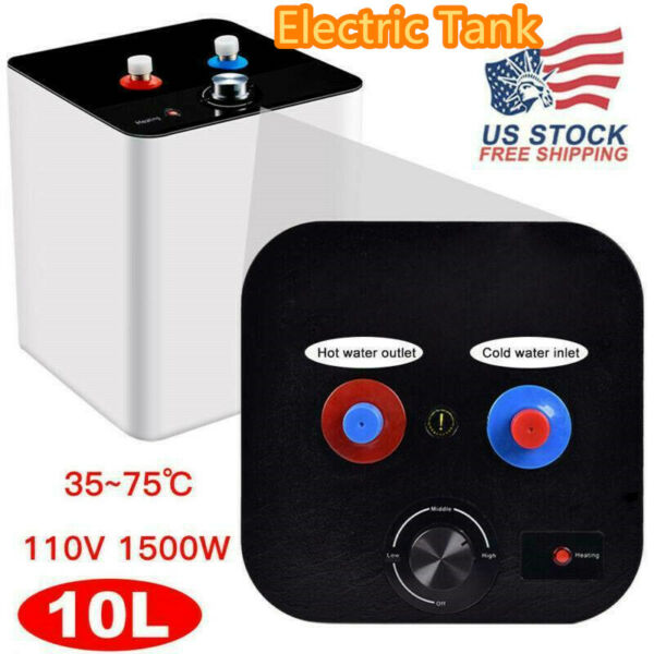 Electric Tankless 110V 10L Hot Water Heater 35℃ 75℃ Kitchen Bathroom Home US NEW $85.99