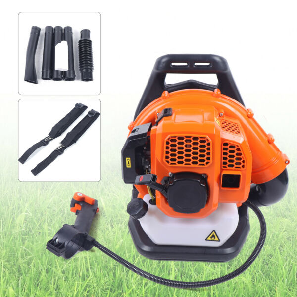 42.7CC 2 Stroke Backpack Gas Leaf Blower Commercial Gas Powered Blower Engine