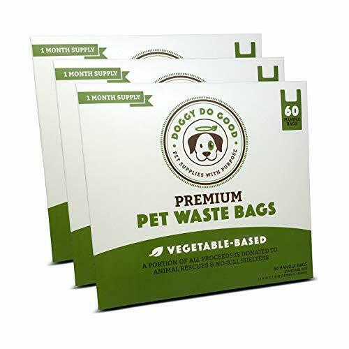 Biodegradable Dog Poop Bags Compostable with Handles Leak Proof 180 Count $45.37