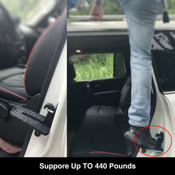 Car Latch Door Step Mini Foot Pedal Ladder Easy Access to Rooftop for Jeep SUV $12.88
