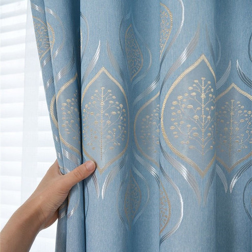 310cm high new 4 color selection blue luxury living room curtain 2021