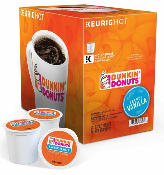 96 K Cups Dunkin Donuts Vanilla Flavored Coffee Sealed Boxes