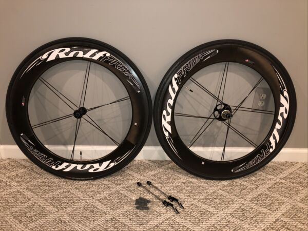 Rolf Prima Ares 8 Deep Dish Carbon Clincher Wheelset 11sp Shimano SRAM Ti Skewer $1595.00