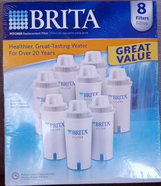 Brita Pitcher Filter Replacement 8 Pack Brand New Sealed