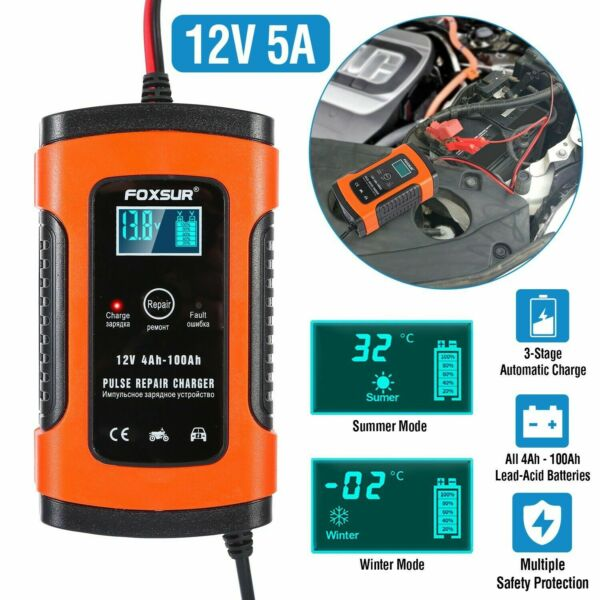 12V Car Battery Charger Maintainer Auto Trickle RV for Truck Motorcycle ATV US $17.75