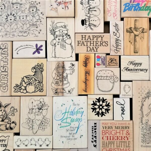Holidays amp; Events Wooden Rubber Stamps Build Your Own Set Buy More amp; Save