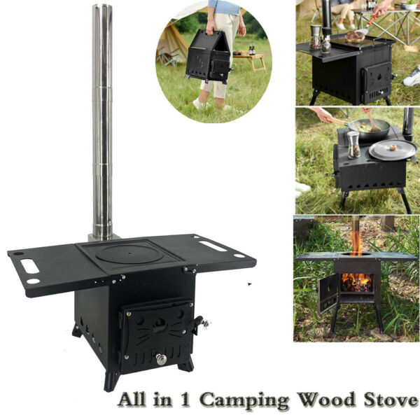 Camping Stove Large Outdoor Wood Stove Firewood Stove Outdoor Wood Furnaces $139.01