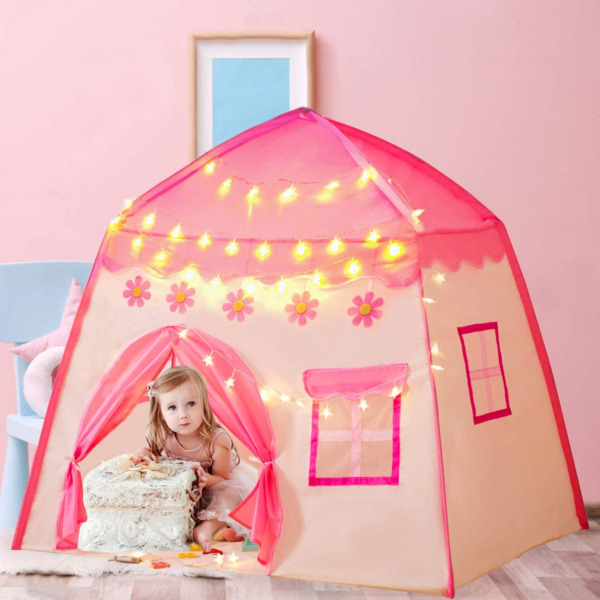 Gentle Monster Kids Play Tent for Girls Playhouse with Star Lights Indoor amp; for $34.21
