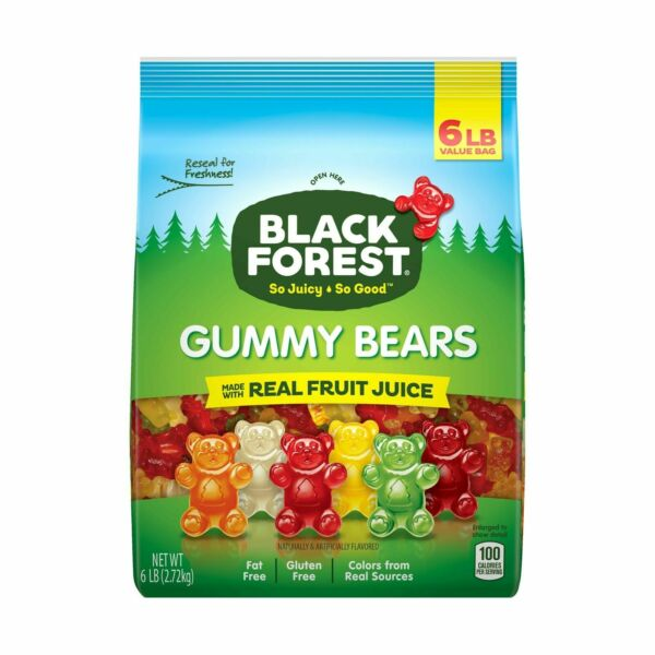 Black Forest Gummy Bears Candy 6 Lb 6 Pound Pack of 1 **Best Price**