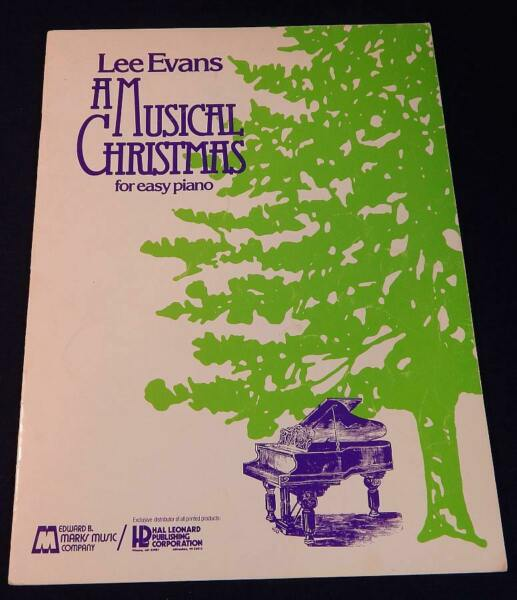 LEE EVANS : A MUSICAL CHRISTMAS for EASY PIANO Instructional Book Music Lessons $6.99