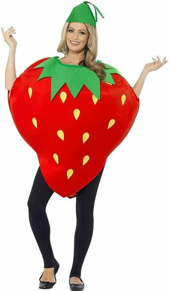 Halloween Costumes Unisex Kids Halloween Strawberry Dress Fruits Suit with Hat $28.33