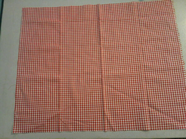 Red and White Gingham Plaid Fabric 264173 $2.59