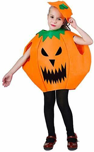 Halloween Costumes For Girls Halloween Pumpkin Cosplay Party Clothes for Kids $21.47