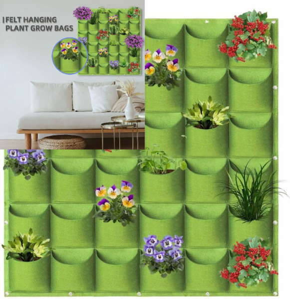 36 Pockets Vertical Wall Planters for Outdoor Indoor 36 Pockets Green $21.95