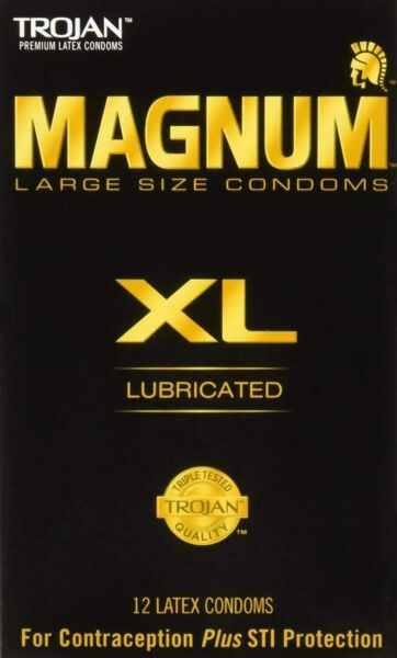 Trojan Magnum XL Large Size Lubricated Condoms Pack of 12