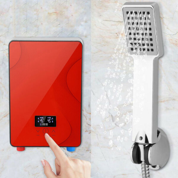 220V 6500W Electric Hot Water Heater Tankless Instant 30 55℃ Bathroom Shower $71.00