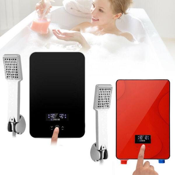 6500W 220V Digital Electric Hot Water Heater Tankless Instant Shower Household $71.00