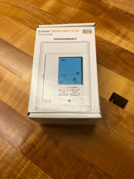 SCHLUTER PROGRAMMABLE DIGITAL HEATED FLOOR THERMOSTAT DITRA HEAT E RS $75.00