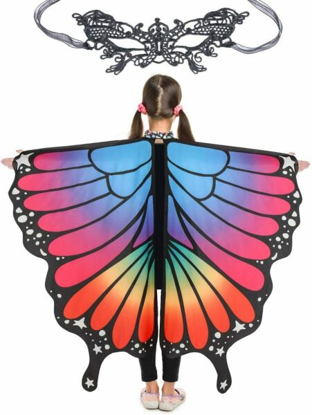 Halloween Costumes For Girls Butterfly Wings For Kids Halloween Rave Dress $28.69