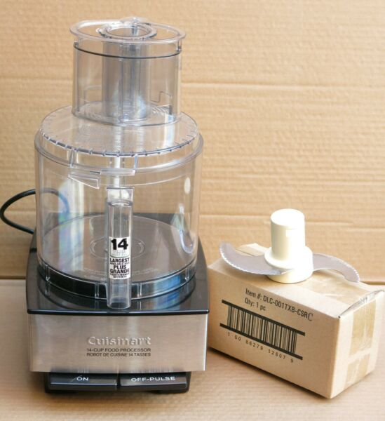 CUISINART 14 Cup Food Processor Brushed Stainless Steel DFP 14BCN w New Chopper
