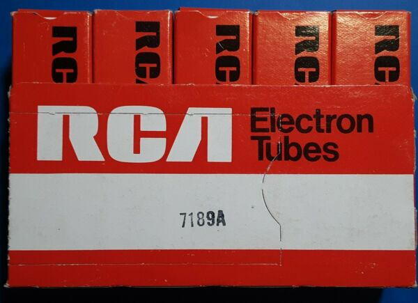 7189A RCA 5 PACK TUBES IN SLEEVE 2 NEW 3 USED ALL TESTED VERY STRONG