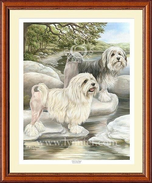 LOWCHEN limited edition art print #x27;Little Lion Dogs#x27; GBP 25.00