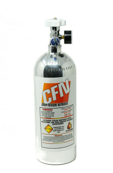 5LB Nitrous Bottle W/high flow valve & gauge