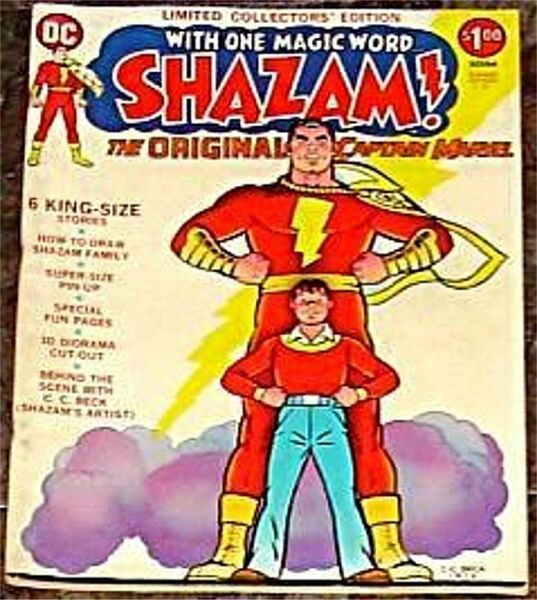 C 21 LIMITED COLLECTORS EDITION DC SHAZAM TREASURY F VF CAPTAIN MARVEL RARE